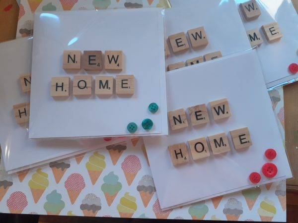 new home card scrabble letters