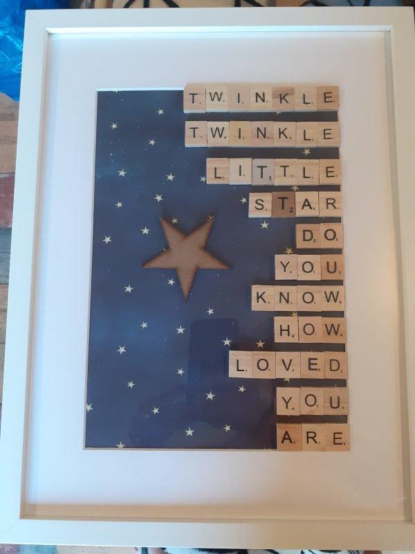 twinkle twinkle little star frame