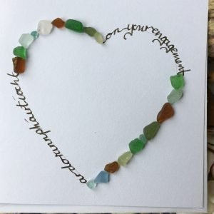 engagement card seaglass sally redmore heart seaglass