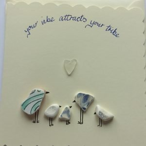 your vibe greeting card seaglass handmade in ireland
