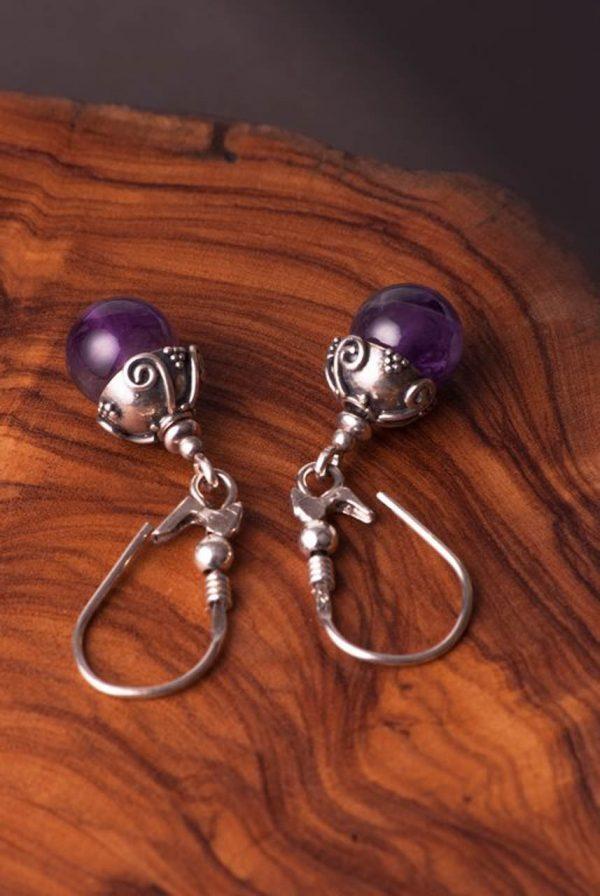 Antique Amethyst Earrings - Antique Amethyst Earrings by Ertisun 3