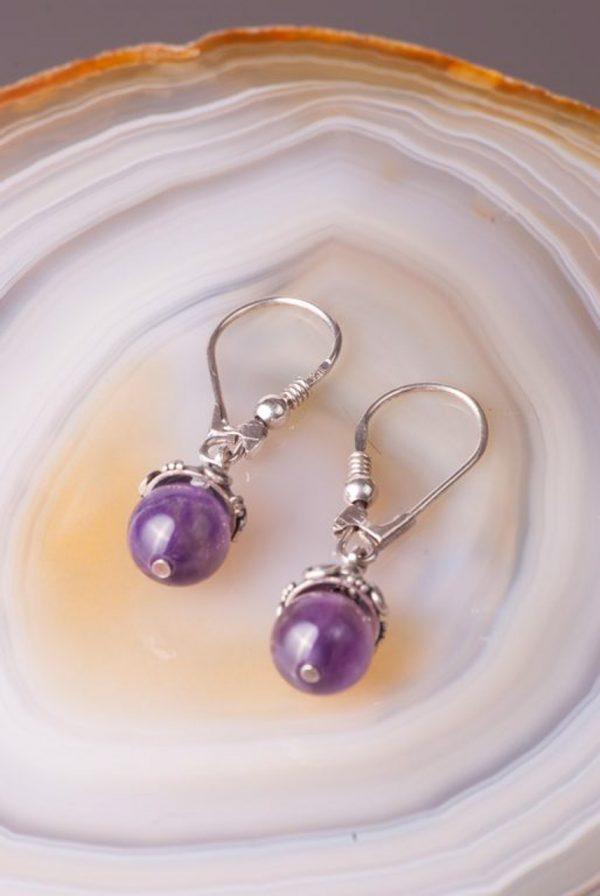 Antique Amethyst Earrings - Antique Amethyst Earrings by Ertisun