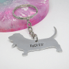 Basset Hound keyring personalised dog gift elle and bee