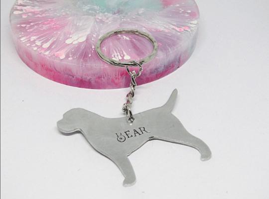 bull mastiff keyring dog gift personalised