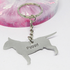 Bull Terrier keyring personalised gift elle and bee