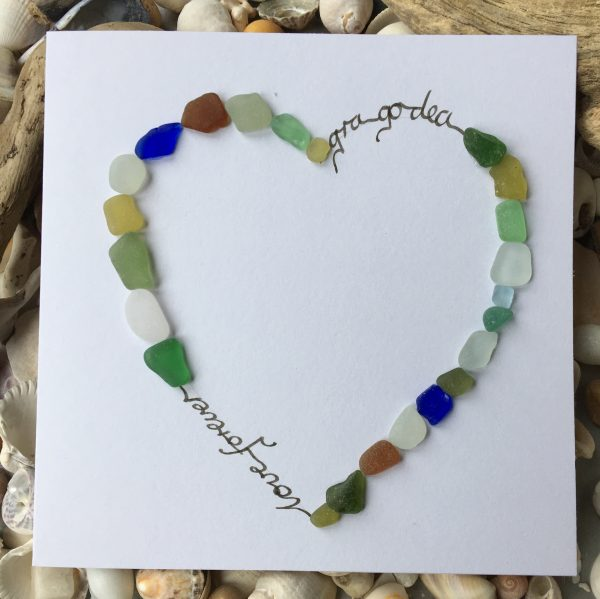 Love Forever - Seaglass Card (Irish/English) - C2455BD8 CBB8 40F6 AF1E E155B02596FE