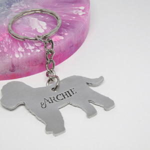Cockapoo Dog Breed Keyring personalised gift