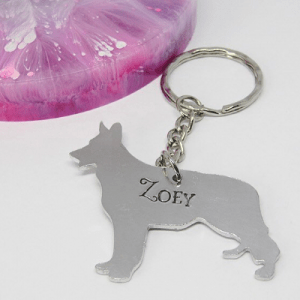 German Shepherd Dog Breed Keyring personalised gift