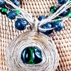 Green Land Necklace ertisun necklace