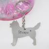 husky keyring personalised dog gift handmade