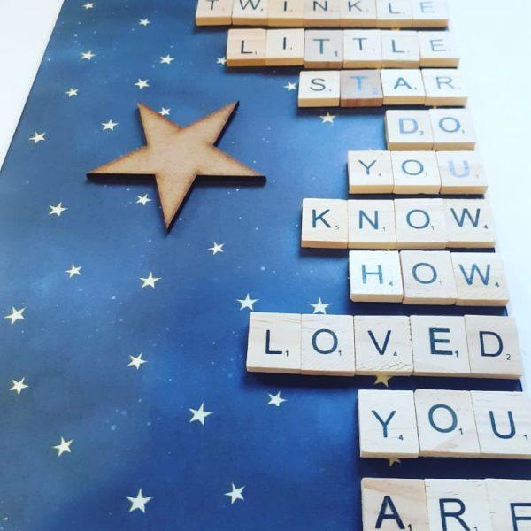twinkle twinkle little star nursery wall art