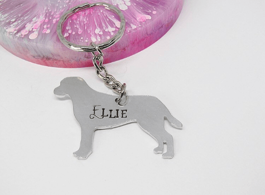 Labrador Dog Breed Keyring elle and bee handmade personlised gift