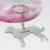 lurcher dog keyring handmade personalised dog keyring