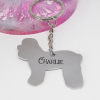 poodle dog keyring personalised keyring gift elle and bee