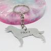 rottweiler dog keyring personalised handmade gift