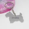 scottie dog keyring personalised handmade gift