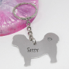 shih tzu dog keyring personalised gift