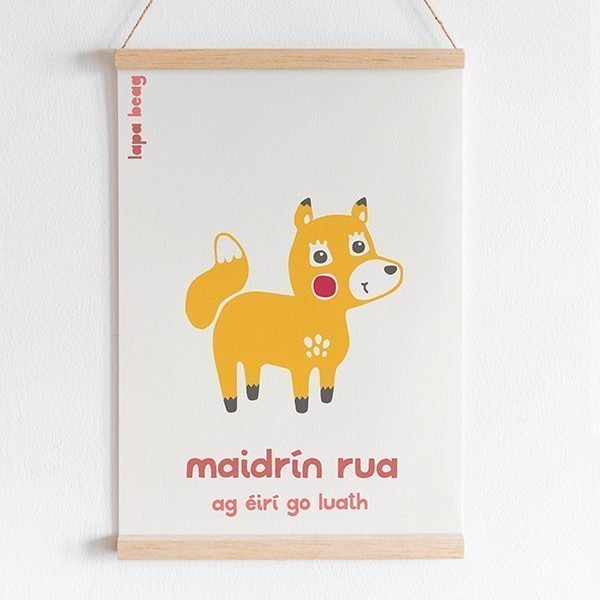Irish fox print Lapa beag maidrin rua