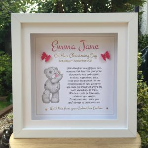 goddaughter christening gift personalised frame as cute as a button