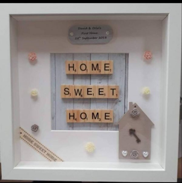 Home Sweet Home craty letter frames scrabble letters