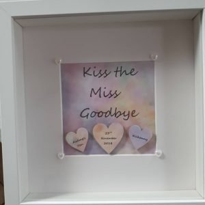 Kiss the Miss Goodbye crafty letter frames