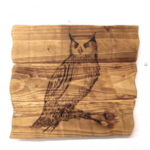 rustic wooden owl plaque birthday gift