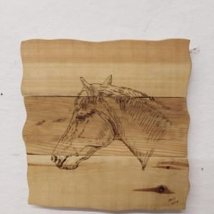 rustic wooden horse plaque handmade birthday gift