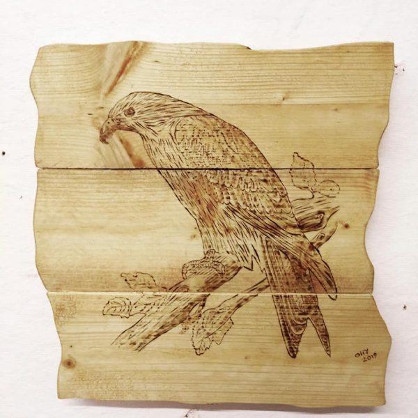 rustic wooden plaque