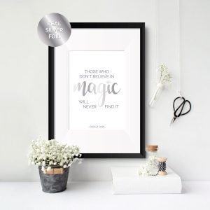 believe in magic inspirational quote print