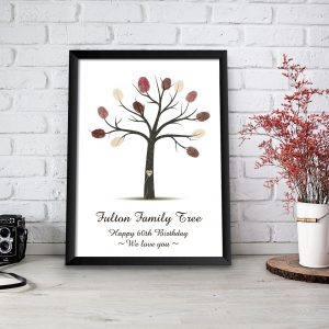 family tree fingerprints personalised print gift