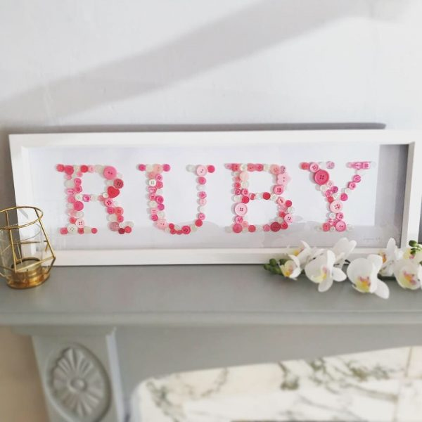 personalised button name frames oregano designs button art
