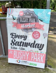 bushy park market sign