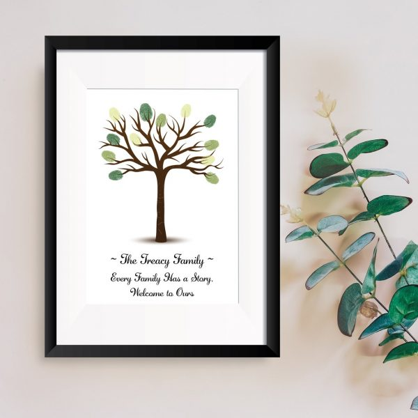 family tree fingerprint art personalised gift