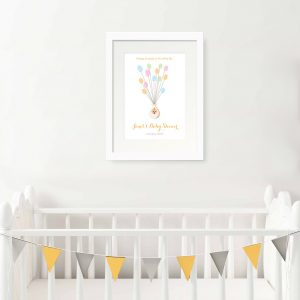 baby shower fingerprint print personalised