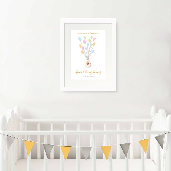 baby shower fingerprint print personalised