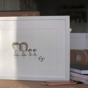 Commissioned Family Painting Rachael Darby personalised gift