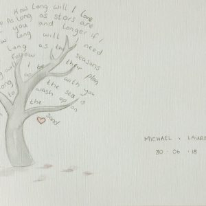 first dance lyrics painting personalised wedding gift by rachael darby