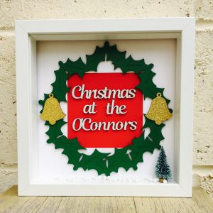 personalised christmas wreath frame