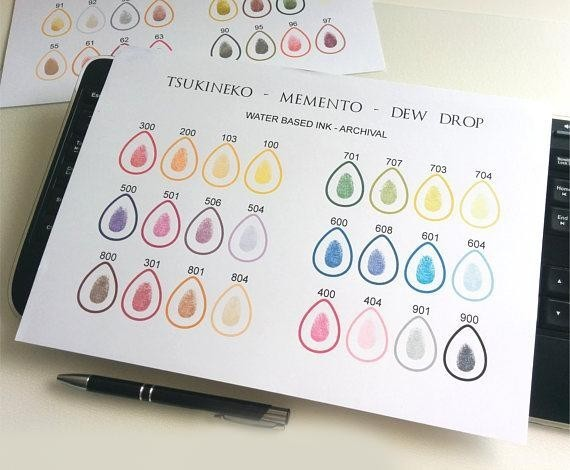 family tree ink colours with fingerprints