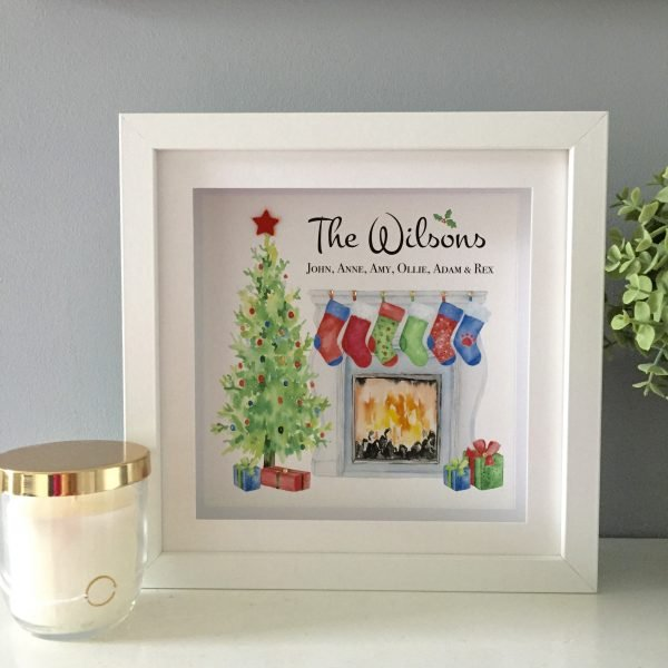 personalised christmas frame and gift by as cute as a button