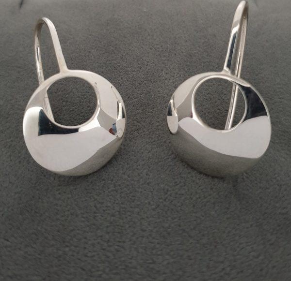 Handmade Lunula Drop Earrings Irish jewellery