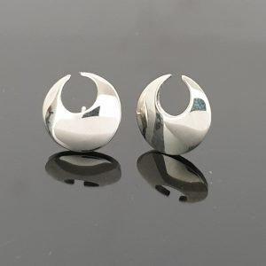 Sterling Silver Lunula Stud Earrings irish jewellery
