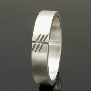 Sterling SIlver Ogham Initial Ring irish jewellery Personalised Jewellery