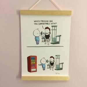 gym v junk funny illustration rob stears