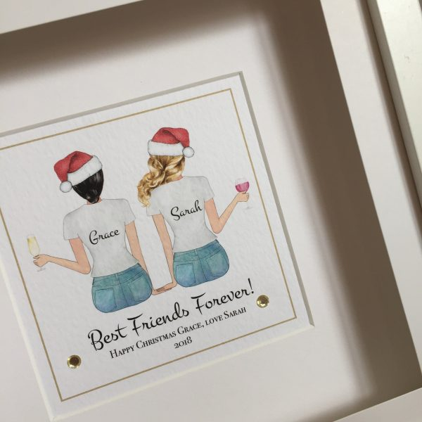 best friends forever personalised frame christmas gift