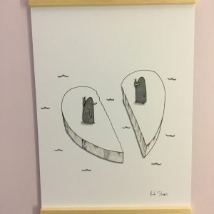 Love Birds funny print by rob stears