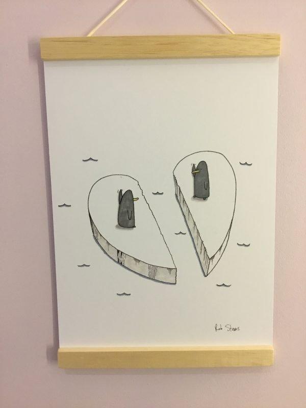 Love Birds funny print by rob stears