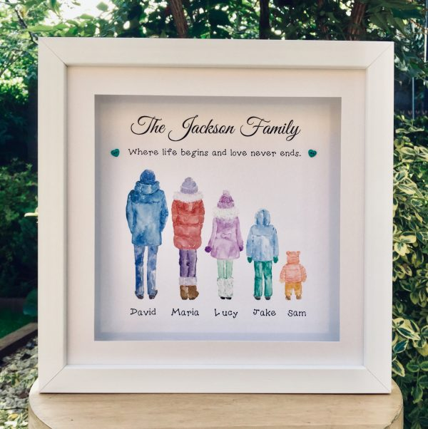 personalised winter family frame