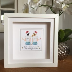 best friends christmas frame personalised christmas gift