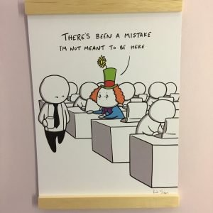 Clerical Error funny print by rob stears